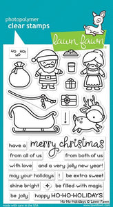 Lawn fawn-Ho-Ho-Holiday-Clear Stamp Set-Preorder