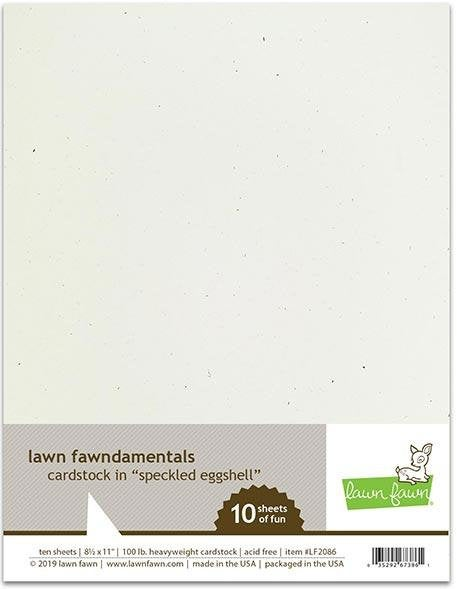 Lawn Fawn-Speckled Eggshell Cardstock-8.5x11