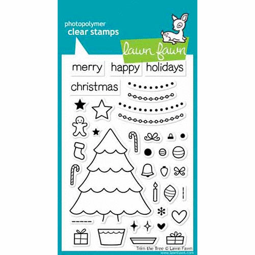 Lawn Fawn - Clear Photopolymer Stamps - Christmas - Trim the Tree