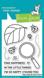Lawn Fawn- Hey Lady - clear stamp set