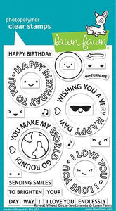 Lawn Fawn - reveal wheel circle sentiments - clear stamp set