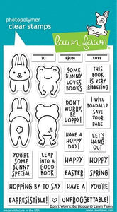 Lawn Fawn - don't worry, be hoppy - clear stamp set