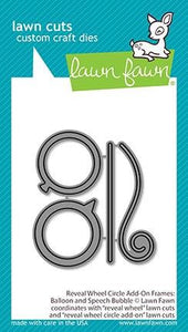 Lawn Fawn - reveal wheel circle add-on frames: balloon and speech bubble