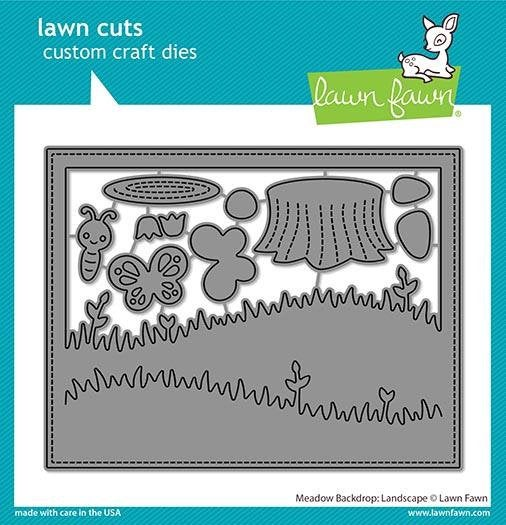 Lawn Fawn - meadow backdrop:landscape - lawn cuts