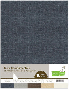 Lawn Fawn - shimmer cardstock - neutrals