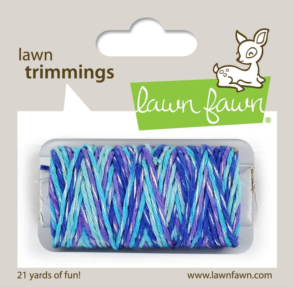 Lawn Fawn - Lawn Trimmings - Baker's Twine Spool - mermaid's lagoon sparkle cord
