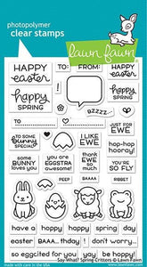 Lawn Fawn -   say what? spring critters- clear stamp set