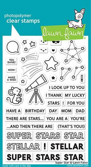 Lawn Fawn - super star - clear stamp set