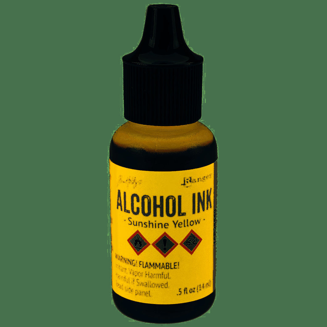 Tim Holtz - Alcohol Inks .5oz - Sunshine Yellow