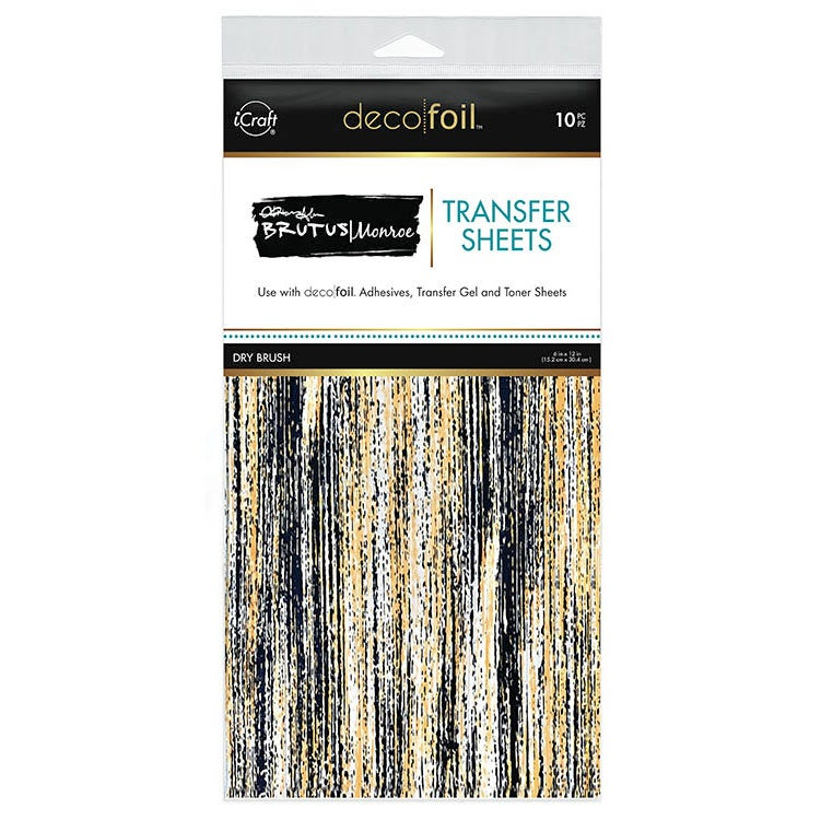 Therm O Web - iCraft - Deco Foil - 6 x 12 Transfer Sheet - Dry Brush - 10 Pack