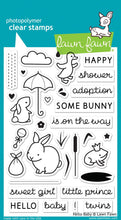 Load image into Gallery viewer, Lawn Fawn - hello baby - clear stamp set
