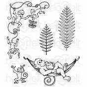 Heartfelt Creations - Monkeying Around Collection - Monkeying Aound Cling Stamp Set