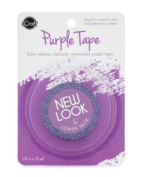 Therm O Web - iCraft - Purple Tape -  Easy Release Removable - 0.5 Inches x 15 Yards