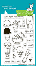 Load image into Gallery viewer, Lawn Fawn - Here's The Scoop- clear stamp set