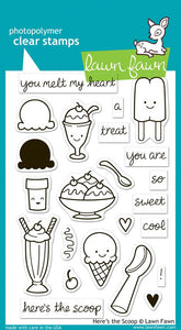 Lawn Fawn - Here's The Scoop- clear stamp set