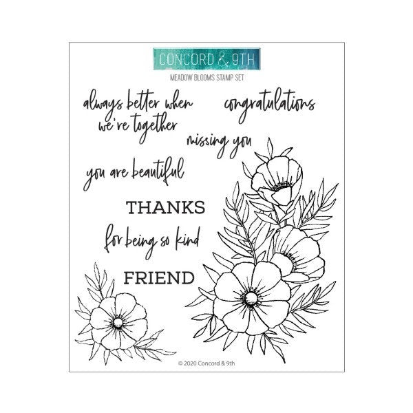 Concord and 9th - Clear Acrylic Stamps - Meadow Blossoms