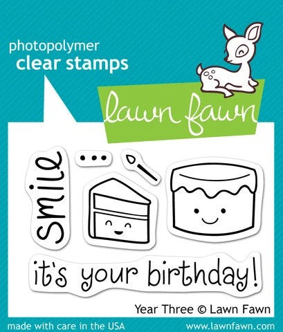 Lawn Fawn - clear stamp set- Year Three