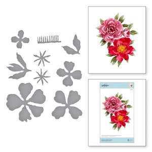 Spellbinders-Die Set-Susan Tierney-Cockburn-Double & Single Peonies