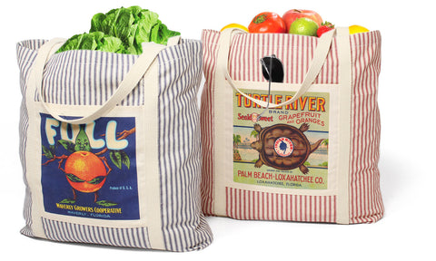 Striped Cotton Totes