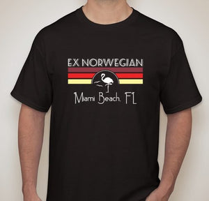 EX NORWEGIAN - 'MIAMI BEACH' TEE (Apparel)