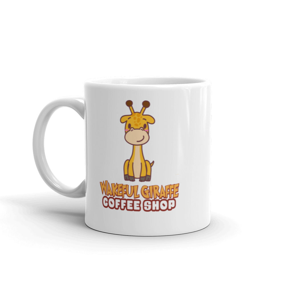 Wakeful Giraffe Mug for right and left-handed people