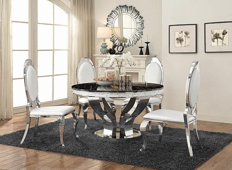 Anchorage Hollywood Glam Silver Dining Table