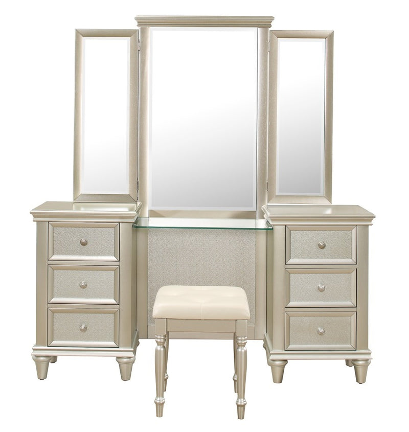 Homelegance Celandine Vanity Dresser with Mirror in Silver 1928-15* image