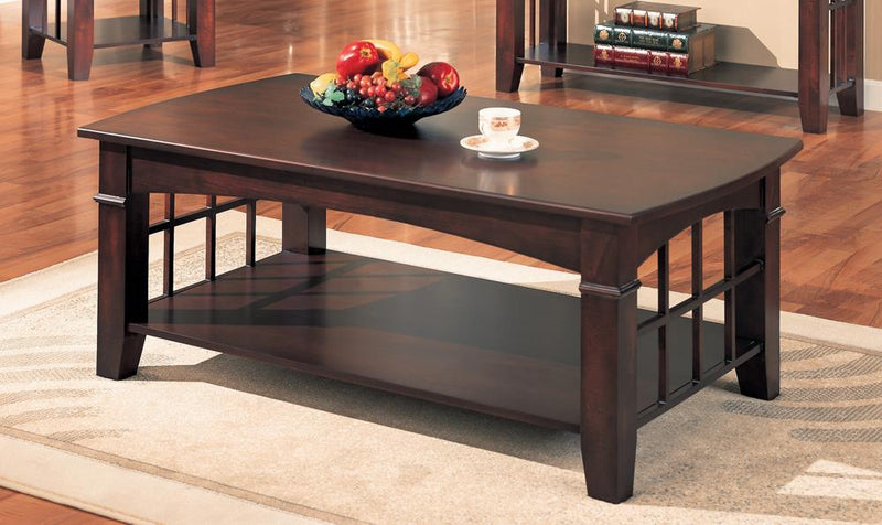 Abernathy Cherry Rectangular Coffee Table