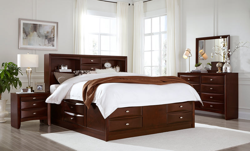 Linda Merlot Full 5-Piece Bedroom Set image