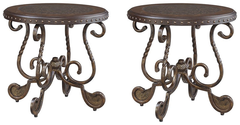 Rafferty Signature Design 2-Piece End Table Set image