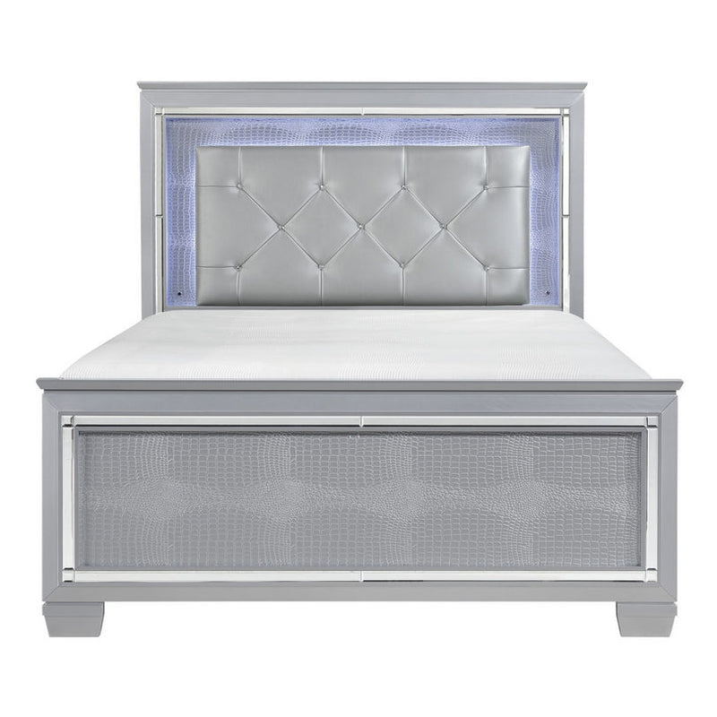 Homelegance Allura Full Panel Bed in Silver 1916F-1* image