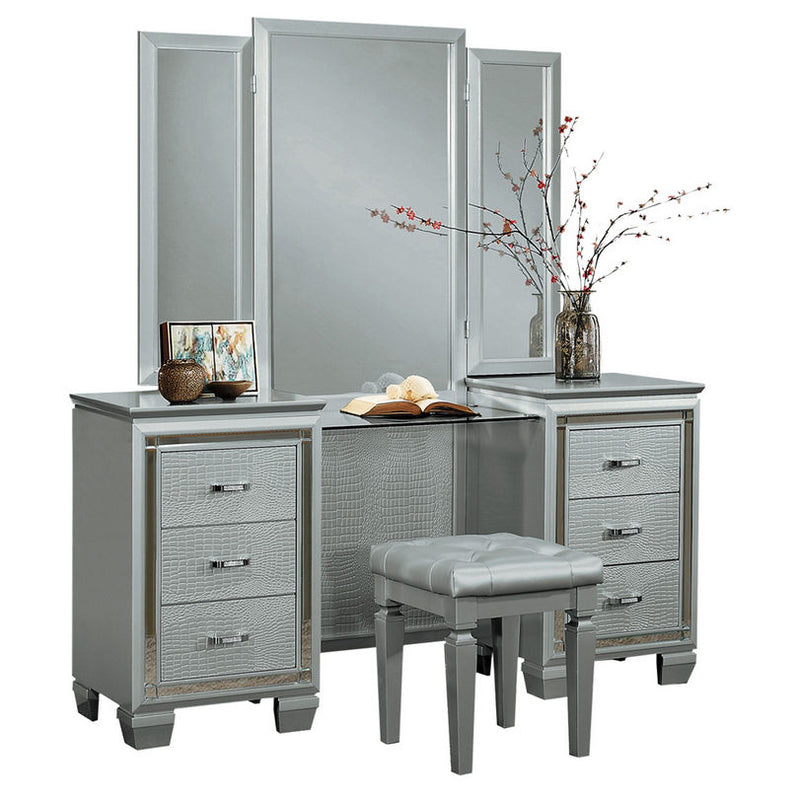 Homelegance Allura Vanity Dresser with Mirror in Silver 1916-15* image