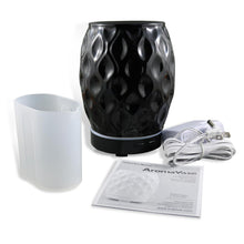 Load image into Gallery viewer, AromaHouse Aromavase Ultrasonic Ceramic Essential Oil Diffuser for Essential Oils and Fragrances Cool Mist Humidifier with Auto Shut-Off (BLACK)