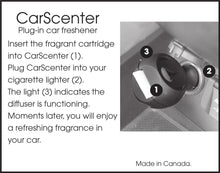 Load image into Gallery viewer, AromaHouse Aromatherapy carscenter Diffuser with 5 Refill Pads