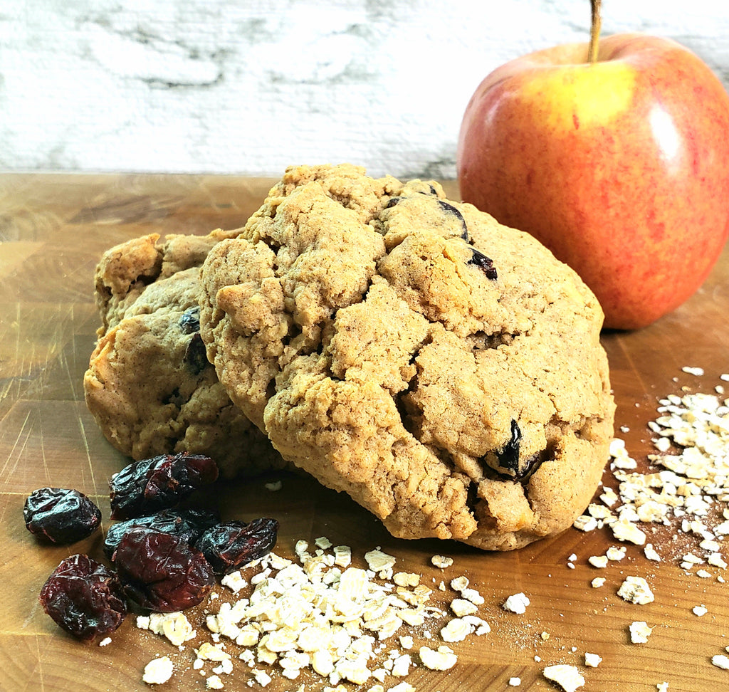 Gluten free-Vegan Apple Cranberry Oatmeal