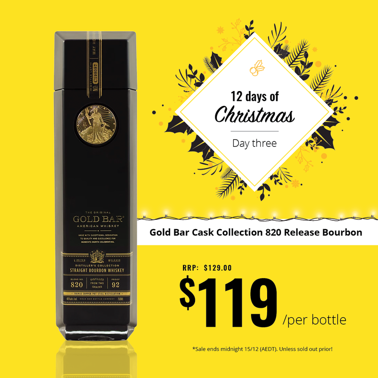 Day 3 - Gold Bar Cask Collection 820 Release Bourbon