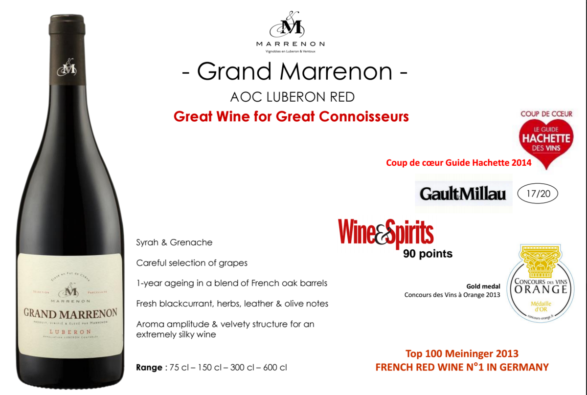 MAGNUM - Grand Marrenon AOC Luberon Red