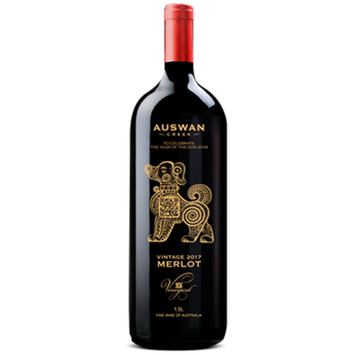 LIMITED EDITION - Australian Swan Creek 'The Big Golden Dog' Merlot, 1500ml (1.5L)