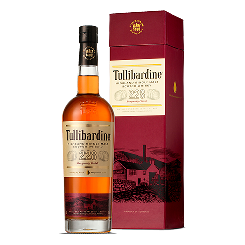 Tullibardine 228 Burgundy Finish Single Malt Scotch Whisky 700mL