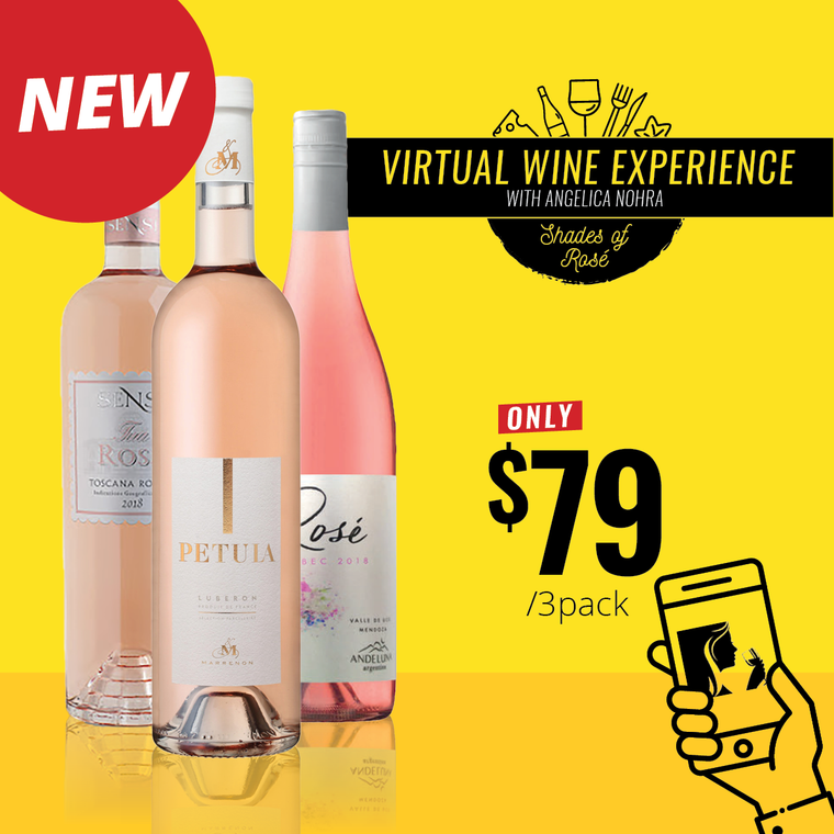 Virtual Wine Experience - Shades of Rosé