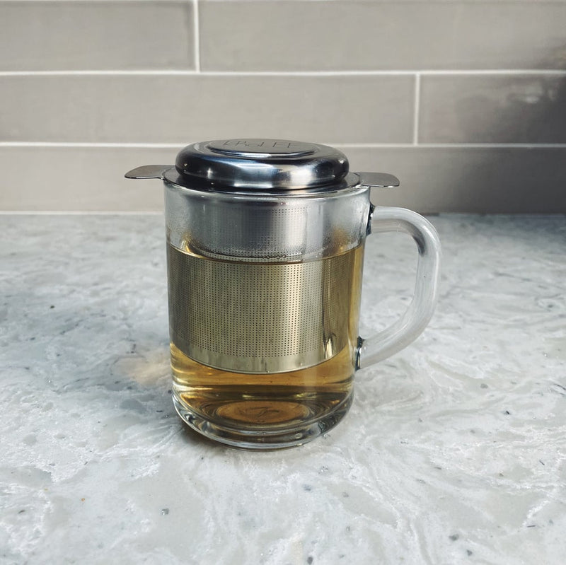 Double Handle Loose Tea Infuser with Lid