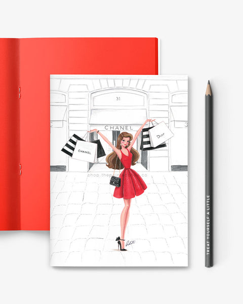 Retail Therapy Red Notebook