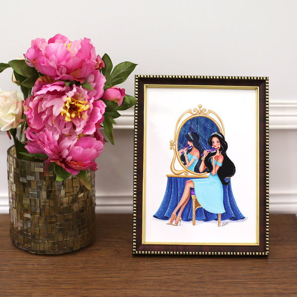 Getting Ready, Jasmine Framed Art Print