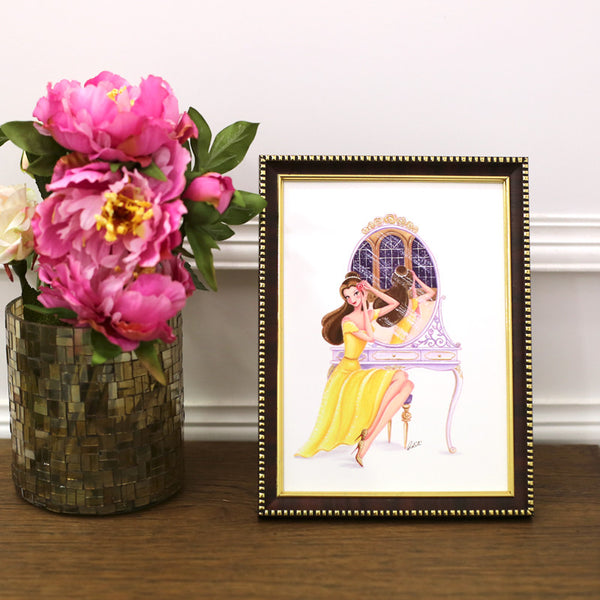 Getting Ready, Belle Framed Art Print