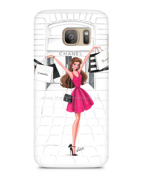 Retail Therapy Pink Samsung S7 Edge Case