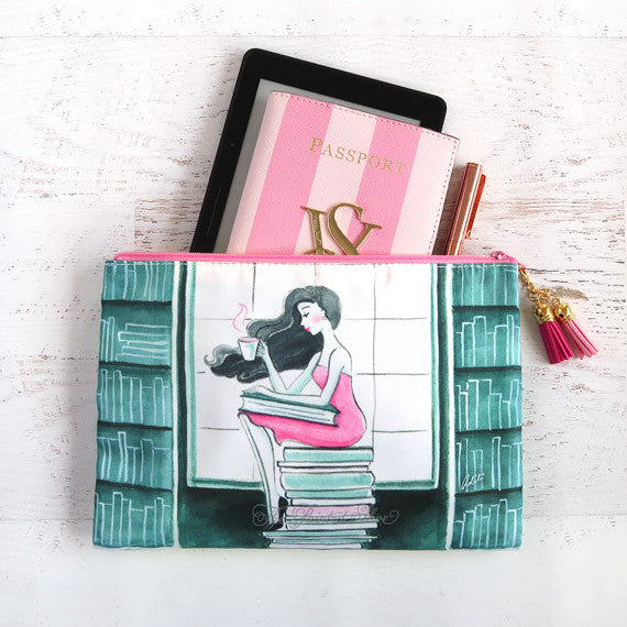 Book Lover Cosmetic Pouch