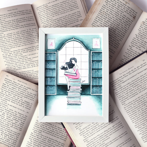 Book Lover Framed Art Print