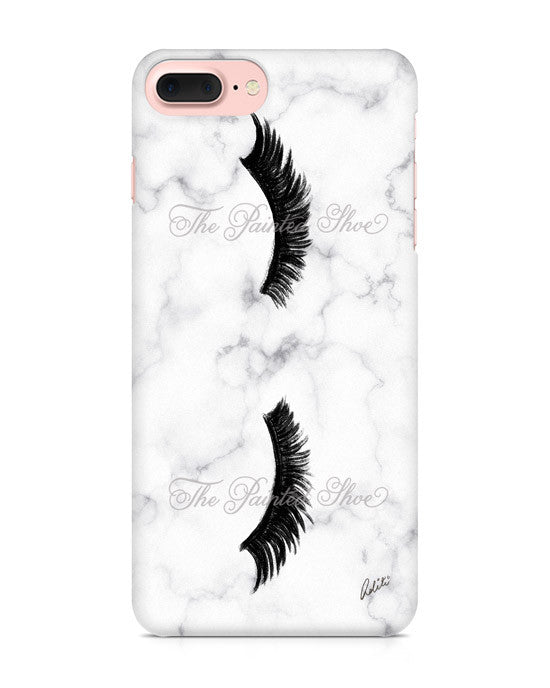 Lashes in Marble iPhone 7 Plus Case