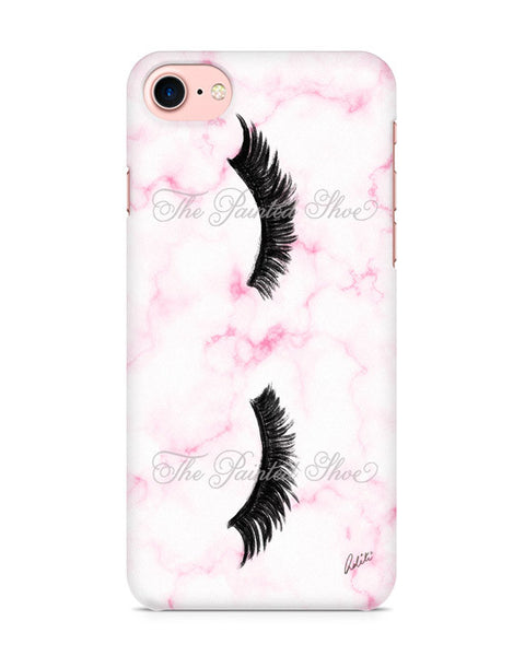 Lashes in Pink Marble iPhone 7 Case