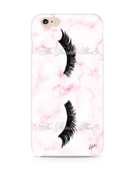 Lashes in Pink Marble iPhone 6/6S Case